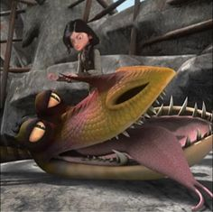 how to train your dragon monstrous nightmare scene
