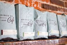 Prince Street Cafe - beautiful coffee packaging design - love love!