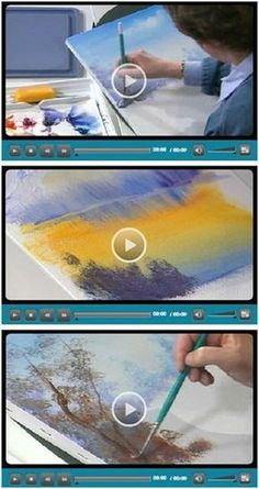 94 Free Do It Yourself Beginning Artist Videos - Jerry's Artarama lets you enjoy eight hours worth of free, easy, five minute how-to videos… Acrylic Painting Tutorials, Watercolour Tutorials, Watercolor Techniques, Art Techniques, Beginning Watercolor Tutorials, Watercolor Video, Art Watercolour, Acrylic Painting Techniques, Watercolor Artists