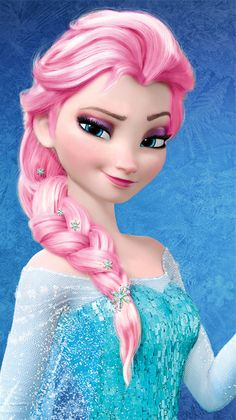 Elsa frozen disney wallpapers for iphone 5s backgrounds is a elsa pink hair color wallpaper probably with a headshot in the frozen club voltagebd Gallery