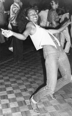 Diana Ross at Studio 54 - She is a famous lady, who has waited for fame. She could have even waited in line before this picture was taken. The key is to smile, dance, and enjoy the wait.