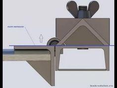 45 degree bending brake set up Sheet Metal Bender, Sheet Metal Brake, Sheet Metal Art, Metal Bending Tools, Metal Working Tools, Metal Tools, Diy Welding, Welding Tools, Metal Projects
