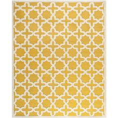 Anchor your living room seating group or define space in the den with this artfully hand-tufted wool rug, featuring a trellis motif for eye-catching appeal. ...