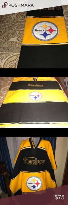 Steelers Poncho New without tags Jackets & Coats Bomber & Varsity