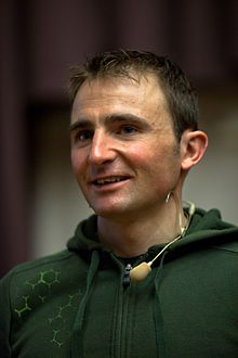 Ueli Steck Swiss Mountaineer World Speed Record Holder for climbing the Eiger solo in 3.5hrs,!
