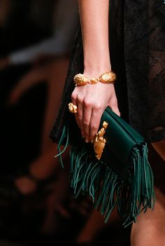 Valentino Colors Verde Esmeralda. SS 2014 Paris, Etnic Bag