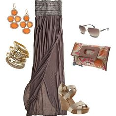 Boho Chic by Esmarie. Like the look but not strapless. Boho Gypsy, Bohemian Style, Boho Chic, Bohemian Fashion, Love Fashion, Spring Fashion, Fashion Looks, Womens Fashion, Boho Beautiful