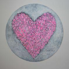 """Acrylic painting by Hammi´s Design.   """"Sydän""""  #heart #sydän #pink #hortensia #maalaus #sisustus #taide #art #hammisdesign Heart Ring, Paintings, Design, Jewelry, Jewlery, Paint, Jewerly, Painting Art, Schmuck"""