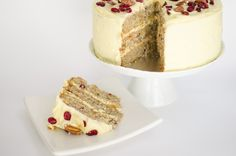 Hummingbird cake is a lovely alternative to carrot cake for a Fall gathering or birthday. It has all the things we love about carrot cake, it's moist and rich with cream cheese frosting, but with a fruitier ingredient list. We've mixed up hummingbird cake a bit by adding cranberries and white chocolate. Delicious!