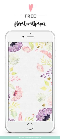 Download this beautiful free floral wallpaper for desktop, tablet or mobile from Clementine Creative!