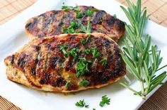 Grilled Chicken Recipe with Sage, Rosemary, and Garlic Dried Herb Rub #grilled #chicken #recipes