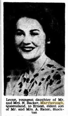 14 September 1946 Engagement of Leone Backer, Maryborough to Ernest Eaton, Stockton, NSW Newcastle, Engagements, Mona Lisa, September, Artwork, Movie Posters, Movies, Work Of Art, Films