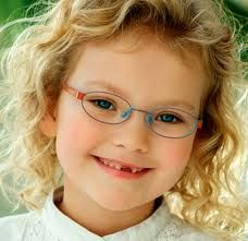 When designers make glasses for children they tend to make the frames smaller as not to hide the child's face. They also tend to make them vibrant and colorful.