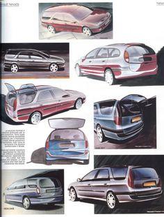 OG | 1994 Renault Laguna Nevada Mk1 | Design sketches
