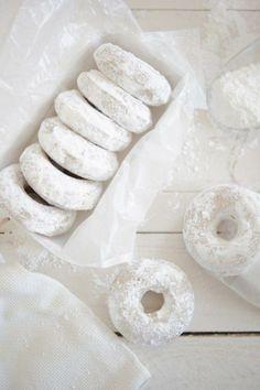 lemon oat bourbon cake doughnuts
