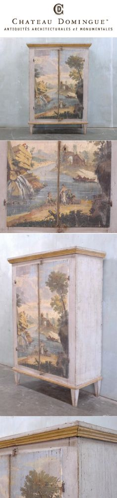 Our 18th c. Painted Italian Cabinet from Umbria is a stunning and flexible piece of authentic antique European furniture! Love what you see? More pieces available at Chateau Domingue!