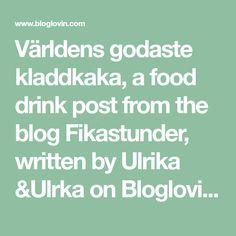 Världens godaste kladdkaka, a food drink post from the blog Fikastunder, written by Ulrika &Ulrka on Bloglovin' A Food, Food And Drink, Fika, Yummy Cookies, Tart, Cooking Recipes, Writing, Desserts, Blog