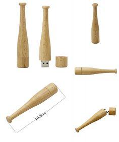 [Visit to Buy] Wooden usb flash pen drive 4GB 8GB 16GB 32GB 64GB customized baseball bat model usb flash drive pendrive memory stick flash card #Advertisement