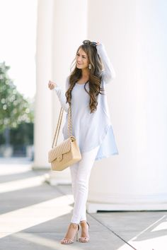 love this pastel outfit to transition into spring