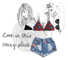 """""""Love in this crazy place"""" by kikiindianna on Polyvore featuring J.Crew and Smoke & Mirrors"""