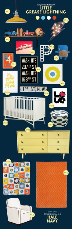 color scheme and accessories could work in a big boy room
