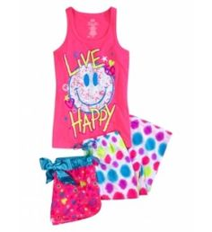 Justice is your one-stop-shop for on-trend styles in tween girls clothing & accessories. Shop our 3 PC NEON SMILEY. Cute Pjs, Cute Pajamas, Girls Pajamas, Cute Girl Outfits, Cool Outfits, Justice Pajamas, Justiz, Girls Sleepwear, Justice Clothing