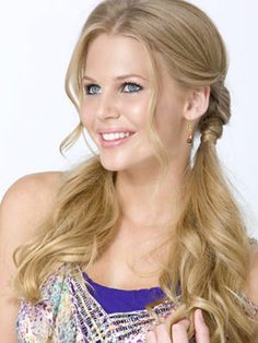 Flirty piggies- braid a couple inches and wrap with a piece of hair.