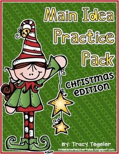 Here is a mini main idea pack. There are three different fiction passages in this pack with a Christmas-theme. Each passage has two activity sheets. Option 1: A multiple choice question is provided asking the main idea. Option 2: Students write the main idea and two supporting details.