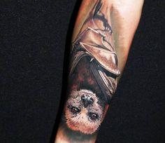 Bat tattoo by Steve Butcher