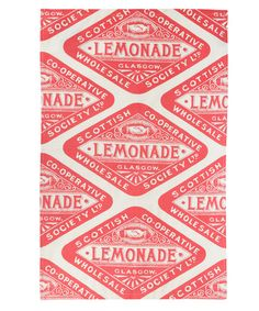 Coral Victorian Lemonade Organic Tea Towel, Gillian Kyle. Shop more from the Gillian Kyle collection online at Liberty.co.uk