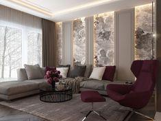 Зона гостиной в частном доме - Галерея 3ddd.ru