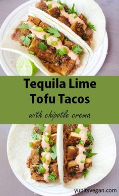 Tequila Lime Baked Tofu Tacos