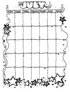 Connie's File Cabinet: MONTHLY BLANK CALENDAR PAGES FOR A YEAR Blank Calendar Pages, Print Calendar, 2021 Calendar, Planner Doodles, Planner Pages, Planner Ideas, Calendar Organization, Organizing Clutter, Dj Inkers