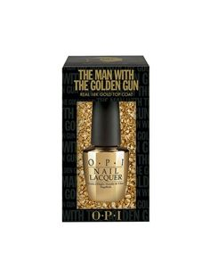 Enlarge O.P.I Limited Edition The Man With The Golden Gun Top Coat With 18k Gold Leaf