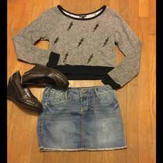 Hot lil Jean mini skirt Super cute and super short Jean mini. Brand new never worn. Make me an offer! Happy POSHING ! American Standard Tyte Skirts Mini