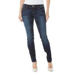 Jordache Women's Low-Rise Skinny Jeans, Size: 12, Gray