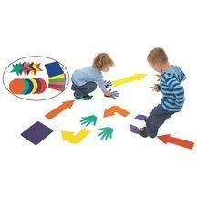 Shapes Spots - Set of 18  Help children develop gross motor skills and coordination through movement activities!