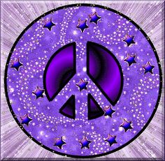 Purple Peace Signs Clip Art | purple halloween peace