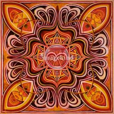 """Muladhara (Root Chakra)"" by Keith ProssickLinden, NJ // Root Chakra Mandala // Imagekind.com -- Buy stunning, museum-quality fine art prints, framed prints, and canvas prints directly from independent working artists and photographers."