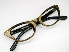 Vintage French Brown Cats Eye Glasses -- necessary to my continued happiness.