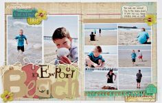 Newport Beach by Wendy Sue Anderson for Making Memories from Scrapbooking Tips  Tricks: Texture