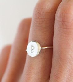 Custom Initial Stacking Ring by Lumo