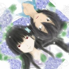 Sankarea Rea and Chihiru, they're so cute together i ship them sorry wankoxchihiro fans i ship chihiro and rea
