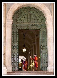 bewakers van de paus-zwitsere garde