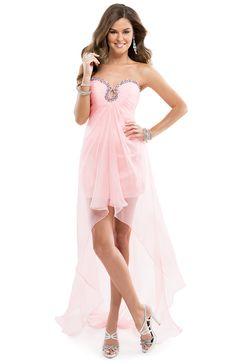e5c9b594354c Short Chiffon Dress with a Jeweled Keyhole Neckline