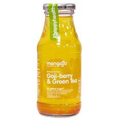 Mangajo Goji-Berry & Green Tea, 250 ml Tea Packaging, Bottle Packaging, Green Tea Extract, Recipe Sites, Best Fruits, Kitchen Gifts, Freshly Baked, Iced Tea, Matcha
