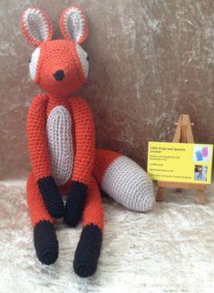 Mr.fox crochet toy. by kingsnqueenscrochet on Etsy