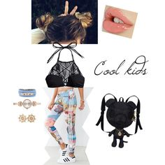 Tough cookie by musa-innovator on Polyvore featuring polyvore fashion style Mikoh adidas KDIA Emporio Armani Henri Bendel Aéropostale
