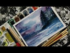 Wet-On-Wet Painting | A Quick Demo | - YouTube