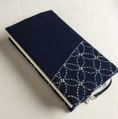 刺し子のブックカバー 新書版サイズ